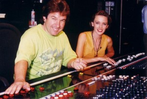 Pete Hammond and Kylie Minogue