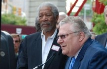 Fred Cannon presents to Morgan Freeman